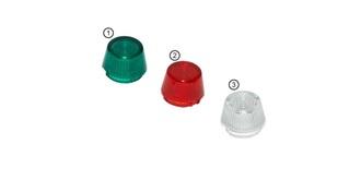 Licht Optotronix Abdeckkappe M 9mm grün  3St