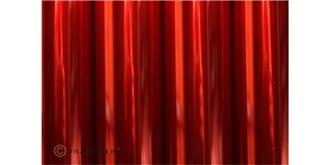 Oracover transp. rot Bügelfolie 2m Rolle