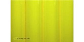 Oracover gelb neon Bügelfolie  2m Rolle
