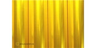 Oracover transp. gelb Bügelfolie  2m Rolle