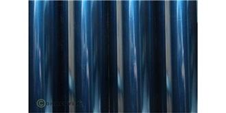 Oracover transp. blau Bügelfolie  2m Rolle
