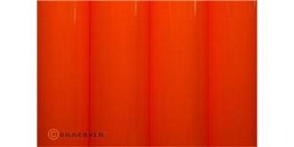 Oracover rotorange 'neon' Bügelfolie  2m Rolle