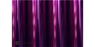 Oralight transparent violett Bügelfolie 2m Rolle