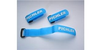 Klettband Schlaufenband Accu 260mm blau 3St