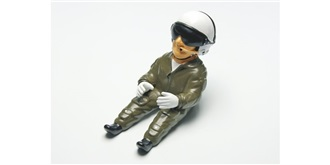 Pilotenpuppe Gunnar lackiert h=110mm