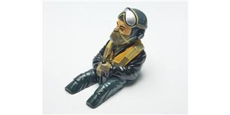 Pilotenpuppe Ronald lackiert h=140mm