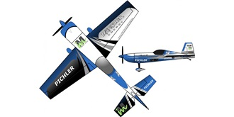 RC Flug RC Factory Extra 330 Münster blau 840mm