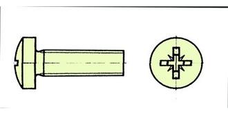 Schraube Kunststoff M 2.0x 25mm Zylinderkopf 10St