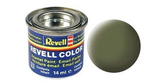 Farbe  68 grün dunkel RAF Email  mat..