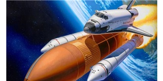 Revell Space Shuttle + Raketen 1:144 Kit Plastik