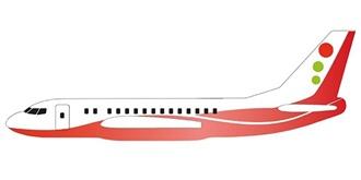 Freiflug Siva Air rot 480mm Wurfgleiter
