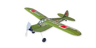Freiflug Piper L-21C 530mm Gummimotor Kit Holz