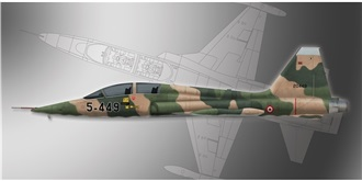 PM Model Northrop F-5B Freedom 1:72 Kit Plastik