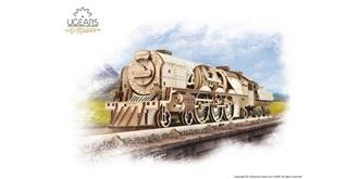UGEARS Lokomotive V-Express Holzkit
