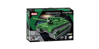 RC Bausteinfahrzeug Militär Panzer grün 2Kanal