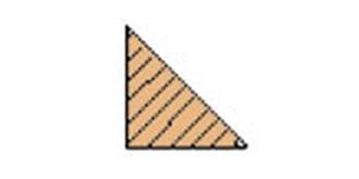 HO-2  Balsa Dreikantleiste  6 x 6 mm l=1.0m