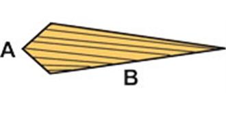 HO-3  Balsa Querruder mit Phase 10x30mm l=1.0m