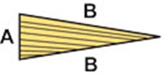 HO-3  Balsa Höhenruder 10x50 mm l=1.0m