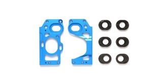 F104 Motor-Halterung ALU blau