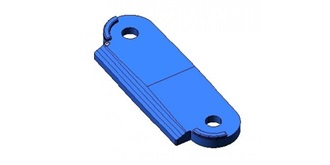 DT03 Getriebebox Brücke ALU blau 2St