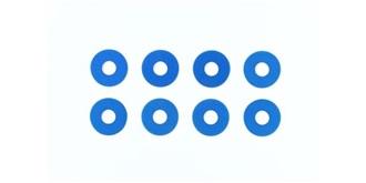 Distanzscheiben blau 0.75mm blau 8St