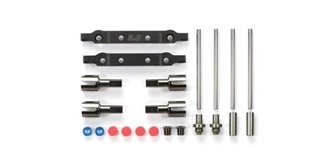 TT02-S Suspension Mount Set Stahl