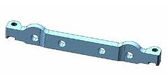 TT02-S Suspension Mount vorn Stahl