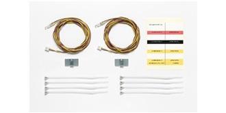 LKW LED 3mm gelb für MFC mit Kabel 1100mm