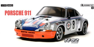 RC Kit Tamiya Porsche 911 Car RSR 1:10 TT-02 10/13