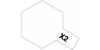 Farbe X   2  weiss Acryl glanz 10ml