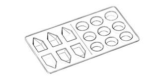 Farbe Mischbehälter (15 Loch)  5St