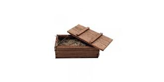 Holzkiste 4.8x2.3x1.8cm 1:16