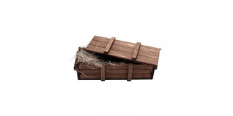 Holzkiste 6.9x2.5x1.9 cm 1:16