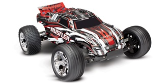 RC Car Traxxas Rustler rot 2WD 1:10 RTR