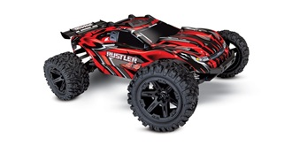 RC Car Traxxas Rustler 4x4 Brushed rot 1:10 RTR