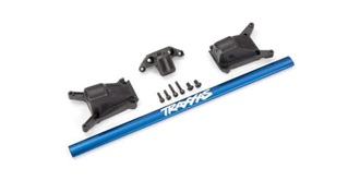 Rustler 4WD Chassis brace kit Alu blau
