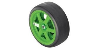 Rally1:16 Pneu/Felgen kpl. (grün)  2St