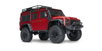 RC Car Traxxas TRX-4 Land Rover Defender rot 1:10