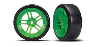 Reifen Drift Traxxas 26mm 1:10 grün