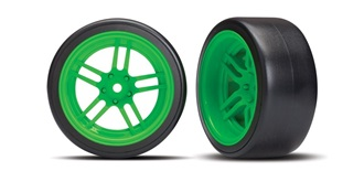 Reifen Drift Traxxas 30mm 1:10 grün