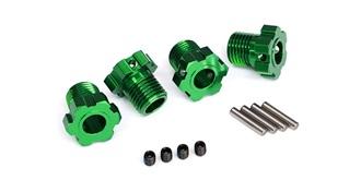 Wheel hubs, splined, 17mm (green-anod ized) (4)/..