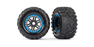 MAXX Reifen MT Beadlock Felgen blau 17mm 2St