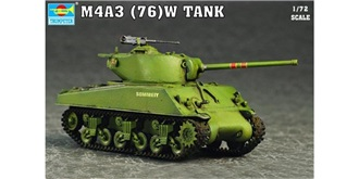 Trumpeter Panzer Sherman M4A3 1:72 Kit Plastik