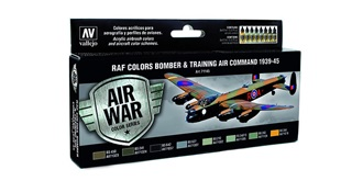 Vallejo MA Set RAF Bomber&Training 1939-45  8x 1..