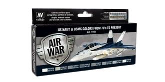 Vallejo MA Set US Navy & USMC Colors 8x 17ml
