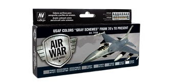 Vallejo MA Set USAF Colors Gray Schemes 8x 17ml