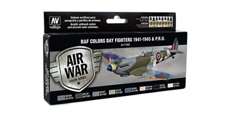 Vallejo MA Set RAF Day Fighters 1941-45  8x 17ml