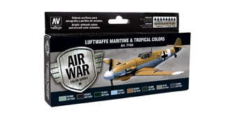 Vallejo MA Set Luftwaffe Maritime&Tropical 8x 17ml
