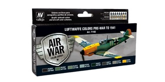 Vallejo MA Set Luftwaffe Pre-War to 1941 8x 17ml