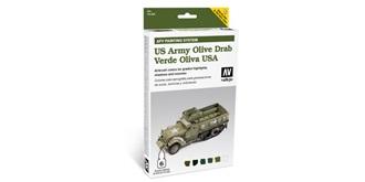 Vallejo MA Verde Oliva USA 6x8 ml.